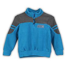Lilliput Kids Full Sleeves Jacket Logo Embroidery - Blue