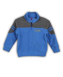 Lilliput Kids Full Sleeves Jacket Logo Embroidery - Deep Blue