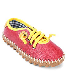 Cute Walk Party Wear Shoes - Red Yellow