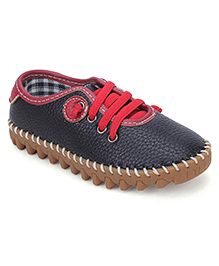 Cute Walk Party Wear Shoes - Black Red