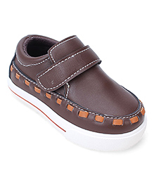Cute Walk Party Loafer Shoes - Dark Brown