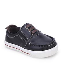 Cute Walk Slip On Shoes - Black