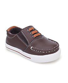 Cute Walk Slip On Shoes - Coffee Brown