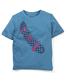 Mothercare Half Sleeves T-Shirt Skate Board Print - Blue