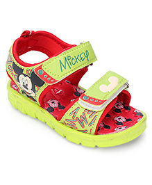 Disney Sandals With Dual Velcro Closure - Green