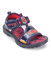Disney Sandals With Dual Velcro Closure - Navy