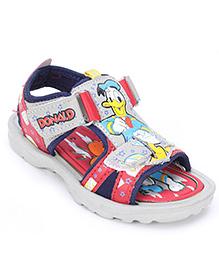 Disney Sandals With Dual Velcro Closure - Grey