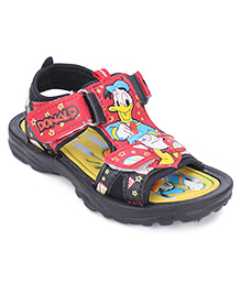 Disney Sandals With Dual Velcro Closure - Black