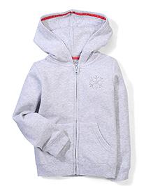 Mothercare Hooded Jacket Embellished Stud Design - Grey