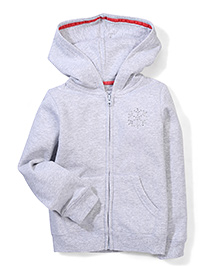 Mothercare Hooded Jacket Embellished Stud Design - Grey