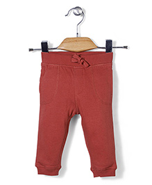 Mothercare Ribbed Waist Track Pant - Carmine Color