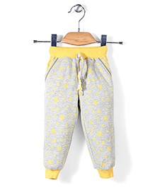 X N Sports Track Pants With Drawstring - Yellow