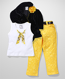N-XT Jacket Sleeveless Top And Pants - Multicolor
