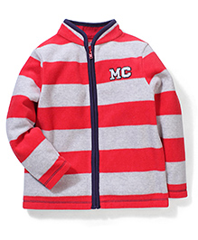 Mothercare Full Sleeves Red And Grey Jacket