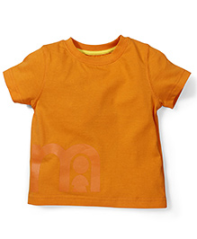 Mothercare Half Sleeves Solid Color T-Shirt - Orange