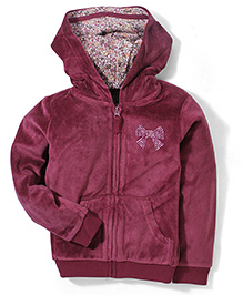 Mothercare Hooded Zip Through Jacket - Burgundy