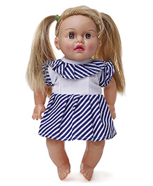 Speedage Tannu Sitting Doll - White And Blue
