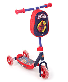 Marvel Spider Man 3 Wheel Scooter - Red