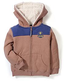Mothercare Hooded Zip Through Jacket - Brown