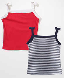 Mothercare Singlet Slip Pack Of 2 - Red And Navy