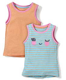 Mothercare Sleeveless Vest Pack Of 2 - Orange & Aqua