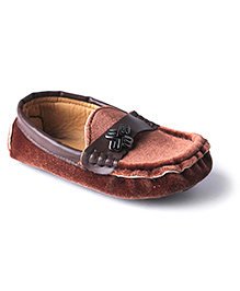 Cute Walk Party Loafer Shoes - Brown
