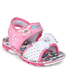 Myau Party Wear Sandals Bow Applique - Pink