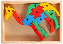 Counting On Camel Wooden  Jigsaw 3 Years+, Wooden Toy  Encourages Creative Play!