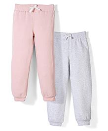Mothercare Full Length Drawstring Jogger Pack Of 2 - Pink & Grey