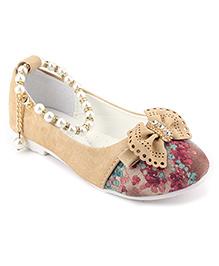 Cute Walk Belly Shoes Pearl Detailing - Cream