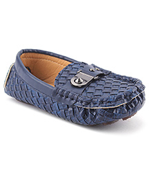 Cute Walk Party Loafer Shoes - Navy Blue
