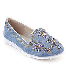 Cute Walk Belly Shoes - Blue