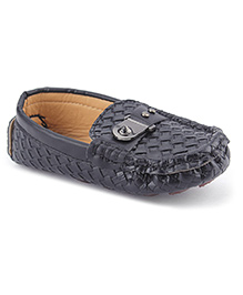 Cute Walk Party Loafer Shoes - Black