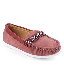 Cute Walk Party Loafer Shoes - Maroon