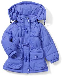 Sweat Shirts & JacketsBabyhug Toggle Button Detachable Hooded Jacket - Royal Blue