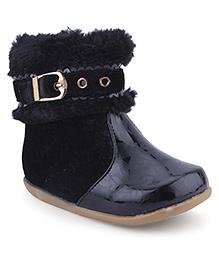 Cute Walk Ankle Length Boots Zip Closure - Black