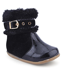 Cute Walk Ankle Length Boots Zip Closure - Black