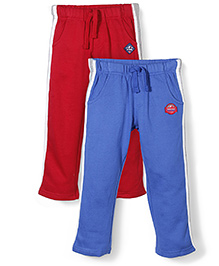 Mothercare Full Length Track Pant Pack Of 2 - Blue & Red