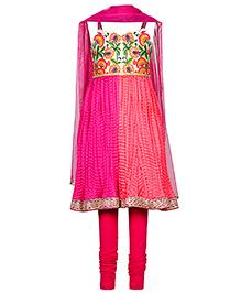 Twisha Kurta Leggings & Dupatta Set - Pink