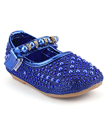 Cute Walk Belly Shoes Pearl Detailing - Royal Blue