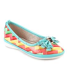 Cute Walk Belly Shoes Bow Applique - Multi Color