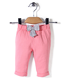 Mothercare Bow Joggers - Soft Pink