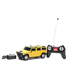 Flyers Bay Hummer SUV Remote Control Die Cast Car Toy - Yellow