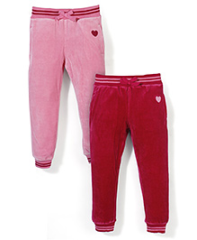 Mothercare Full Length Jogger Pack Of 2 - Dark and Fuchsia Pink
