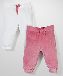 Mothercare Drawstring Jogger Pack Of 2 - Pink & Off White