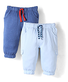 Mothercare Joggers Pack Of 2 - Navy And Sky Blue