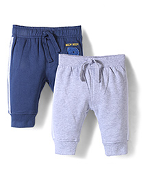 Mothercare Sporty Joggers Pack Of 2 - Navy & Light Grey