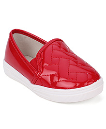 Cute Walk Party Shoes Slip On Style - Red
