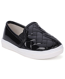Cute Walk Party Shoes Slip On Style - Black