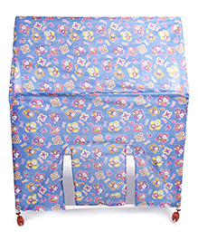 Lovely Play Tent House Stick And Toon Print - Blue